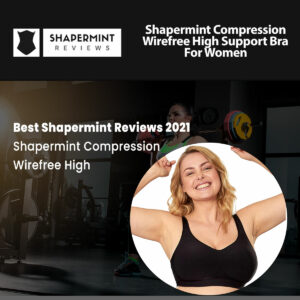 Shapermint Compression Wirefree High Support Bra for Women